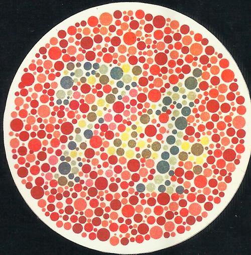 круг с чветными точками