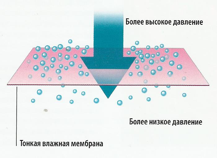 схема газ - мембрана